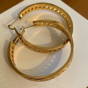 Kate spade gold plated hoops